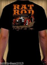 RAT ROD MOTORWORKS FORGED IN TIME HOT ROD T-SHIRT SIZES SMALL TO 4XL NEW!!