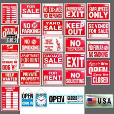 1 Sign Flexible Plastic Business H, Open/Closed, Security, Private Property MORE