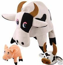 Pig Cow Bull Fancy Dress Hat Childs Adults Farm Animal Costume HAT O/S