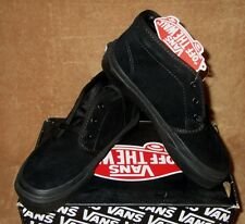 NEW VANS CHUCKKA BOOT SHOE SUEDE BLK/BLK KIDS SIZES 10.5, 13, 1, 1.5