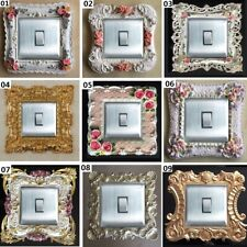 Luxurious Embossment Hand Paint Flowers Light Switch Surround, Wall Decoration