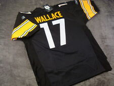 MIKE WALLACE #17 - * FLAWED * Steelers Black NFL Jersey -- ALL SIZES AVAILABLE