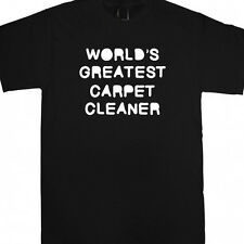 WORLDS GREATEST CARPET CLEANER PERSONALISED XMAS GIFT T SHIRT FUNNY BIRTHDAY NEW