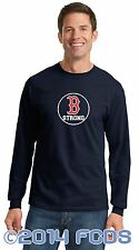 B Strong Long Sleeve Navy T-Shirt Tribute to Marathon Runners Sm-4XL 100% Cotton