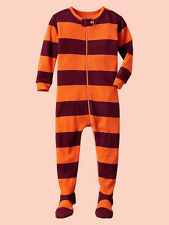 NEW GAP RUGBY STRIPED FOOTED SLEEPER PJ'S SIZE 18-24M 3T