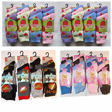 12 Pairs Girls Boys Childrens Thermal Designer Winter Warmer Socks Kids Socks