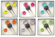 Pitch Repairer, Hat Clip and Smiley Face Ball Marker Gift Set