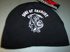 SONS OF ANARCHY ARCHED REAPER CLASSIC LOGO BLACK BABY BEANIE SKULL CAP NEW !