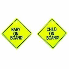 Baby on Board Child Safety 2 X Suction Cup for Your Car Vehicle Signs 3 Types