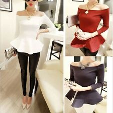 Solid Plain Scoop Neck Short Sleeve Basic Cropped Belly Tee Shirts Top ...