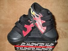 NEW VANS BIG SCHOOL FLAME VELCRO SHOES BLK/RED TODDLER BOYS SZ 4, 4.5, 7, 8, 9.5