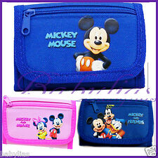 Mickey Minnie Mouse / Blue / Pink Tri-Fold Wallet / Official Licensed Disney