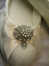 Ballet Flats Bridal Shoes With Lace and Vintage Style Brooch