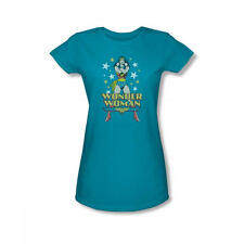 Wonder Woman Turquoise Women's Fitted T-Shirt