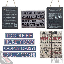 Vintage Plaques And Signs - Kitchen and garden signs for indoor outdoor slate