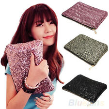 Hot Sparkling Sequins Dazzling Clutch Evening Party Bag Handbag Bling Purse B27U