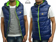 Mens Designer Humor Jeans Padded Puffer Bubble Winter Body Warmer Bomber Gilet