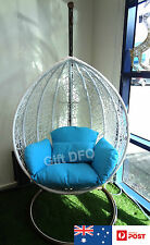 Wicker Hanging Swing Rattan Pod Egg Chair Indoor Decor Outdoor Garden Furniture