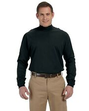 Devon & Jones Mock Turtleneck Men's Long Sleeve Sueded Cotton Jersey Shirt D420