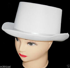Adult Silk White Top Hat Theatrical Roaring 20's Adult Costume Accessory Sized