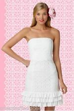 NWT $228 Lilly Pulitzer Franco Resort White Petal Pusher Lace Dress