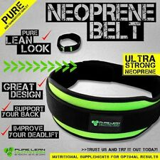 WEIGHT LIFTING GYM BELT  - SUPPORT STRAPS WRAPS POWERLIFTING CROSSFIT