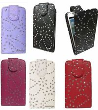 Bling Diamond Flip Leather Case Cover Pouch For Various Apple iPhone iPod