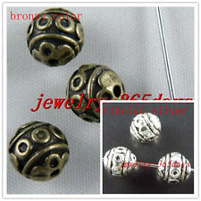 30pcs Silver,Bronze Color Round Ball Spacer Beads 8x8mm D122 D123