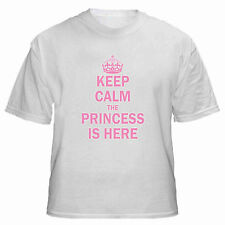 Keep Calm The Princess Is Here T Shirt mens woman tee valentines day funny gift