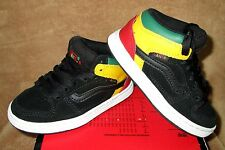 NEW VANS EDGEMONT  SHOE BLK/JAS GREEN/YELLOW/RED BOYS SZ  10.5,11, 11.5,  2.5