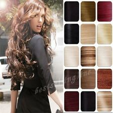 """US STOCK 15""""18""""20""""22""""24""""26""""28"""" Straight Clip In Remy Real Human Hair Extensions"""