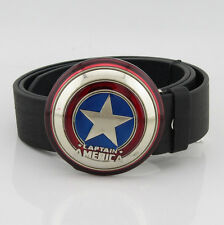 New The Avengers Captain America Shield Mens metal Belt Buckle Leather Costume