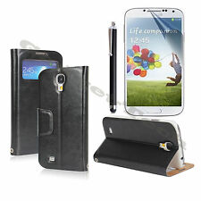 NEW WINDOW STYLE WALLET PU LEATHER STAND COVER CASE SAMSUNG GALAXY S4 i9500