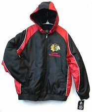 CHICAGO BLACKHAWKS NHL MEN'S GIII WINTER JACKET WITH HOOD L XL 2XL FREE SHIPPING