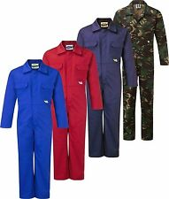 Super Strong Tearaway Children's Play Suit Overall Coverall Red, Blue, Camo NEW