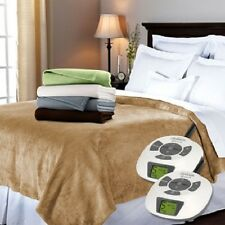 Sunbeam RoyalMink Electric Blanket- KING Dual Controllers (Select Color)