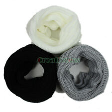 New Unisex Knit Infinity Circle Loop Cowl Eternity Neckwarmer Scarf Wrap Hat Cap