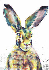 HARE RABBIT **A4 PRINTS** FROM ORIGINAL WATERCOLOURS BY MOON HARES ART PAINTINGS