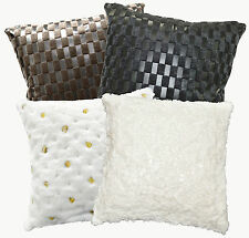 Specialist Design Faux Leather and Faux Fur Material Cushion Cover Custom Size