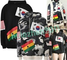 New Kpop custome 2NE1 SNSD EXO New Flags Print Graphic Hoodie Sweatshirt Jumper