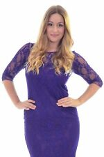 New Womens Dress Ladies Plus Size Bodycon Lace Sweetheart Midi Party Nouvelle