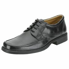 Mens Clarks Black Leather Lace Up Formal Shoes G Fitting HOLD SPRING