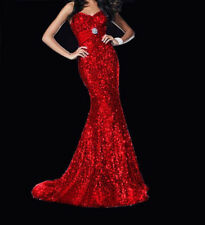2014 New Red Prom Ball Formal Gown Bridesmaid Dresses Stock Size 6-16