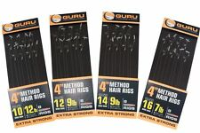 """Guru Method Hair Rig 4"""" with Speed Stops Ready Tied Rigs x 2 or 3 ** FREE POST *"""