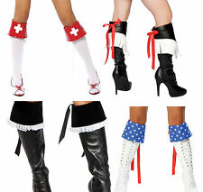 sexy ROMA boot KNEE thigh HIGHS stockings CUFFS covers TOPPERS costume ACCESSORY