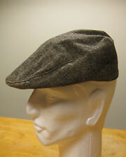 Ivy League Newsboy Cap 100% Wool Tweed Brown Size M Hat JCP 123F10 AKA 31905