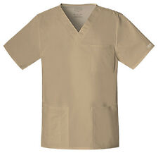 Scrubs Cherokee Unisex Core Stretch Top 4725 DKAW Dark Khaki  Buy 3 Ship $4