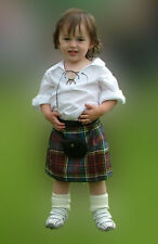 Scottish Baby Kilt Outfit 4-12 Month  Tartans  Plaids Kilt Sporran Shirt Socks
