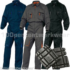 2x Delta Plus Panoply M2COM Work Overalls BoilerSuit Coveralls + FREE Knee Pads