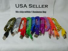 Wholesale Lot For iPhone 5 5S 5C 1M ios7 FLAT Braided 8-Pin to USB Charger Cable
